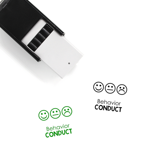 """Behavior Conduct"" Self-Inking Rubber Stamp for Teachers"