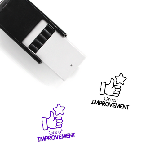 """Great Improvement"" Self-Inking Rubber Stamp for Teachers"