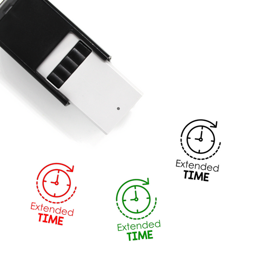 """Extended Time"" Self-Inking Rubber Stamp for Teachers"