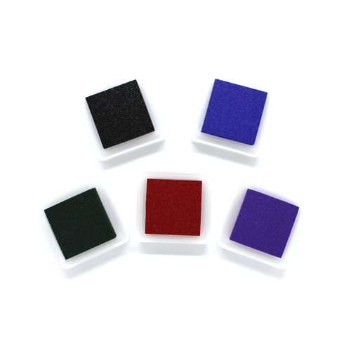 Mini Cube Ink Pads for Wooden Rubber Stamps (Multiple colors available)