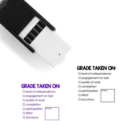 """""""Grade Taken On"""" List Self-Inking Rubber Stamp for Teachers"""