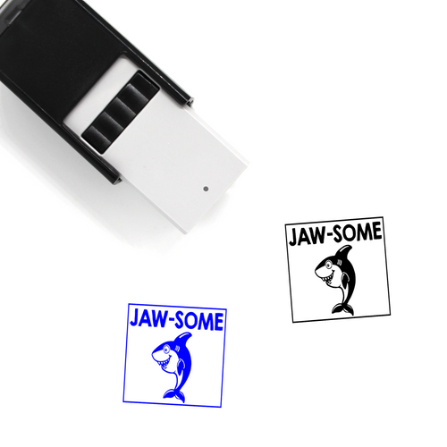 """Jaw-some"" Self-Inking Rubber Stamp for Teachers"
