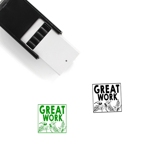 """Great Work"" Self-Inking Rubber Stamp for Teachers"