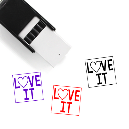 """Love It"" Self-Inking Rubber Stamp for Teachers"
