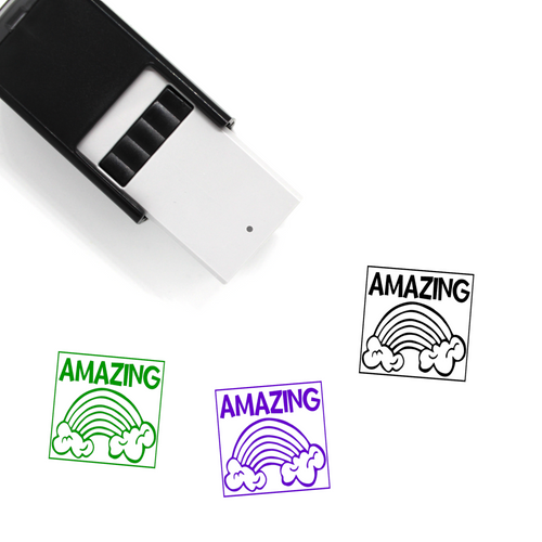 """Amazing"" Self-Inking Rubber Stamp for Teachers"