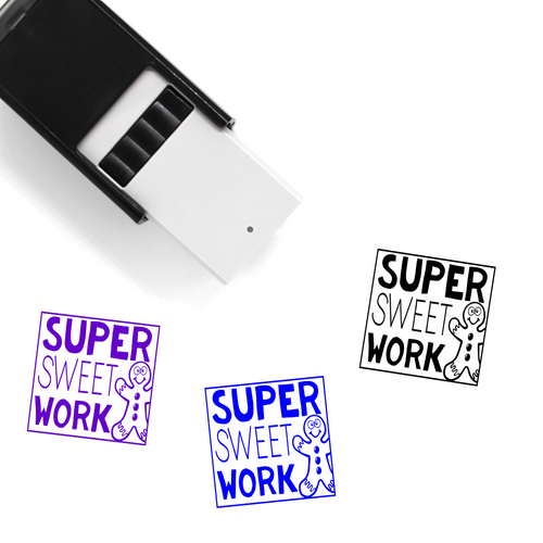 """Super Sweet Work"" Self-Inking Rubber Stamp for Teachers"
