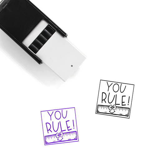 """You Rule"" Self-Inking Rubber Stamp for Teachers"