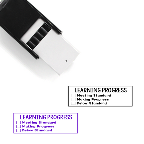 """Learning Progress (Standard)"" List Self-Inking Rubber Stamp for Teachers"