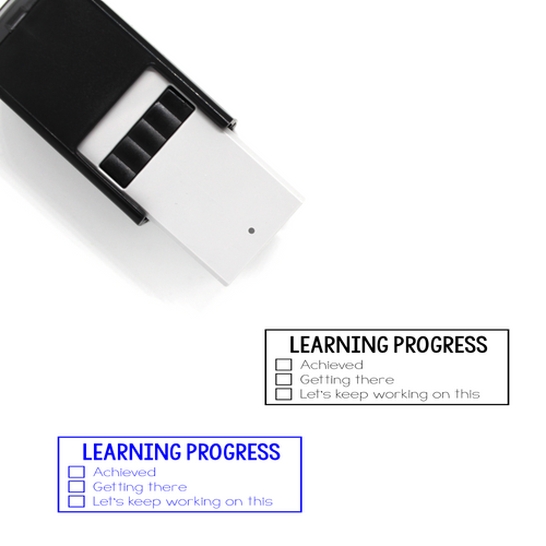 """Learning Progress"" List Self-Inking Rubber Stamp for Teachers"