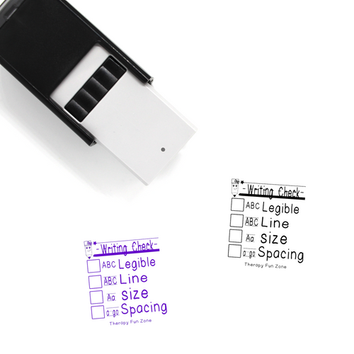 """Writing Checklist"" Self-Inking Rubber Stamp for Therapists"
