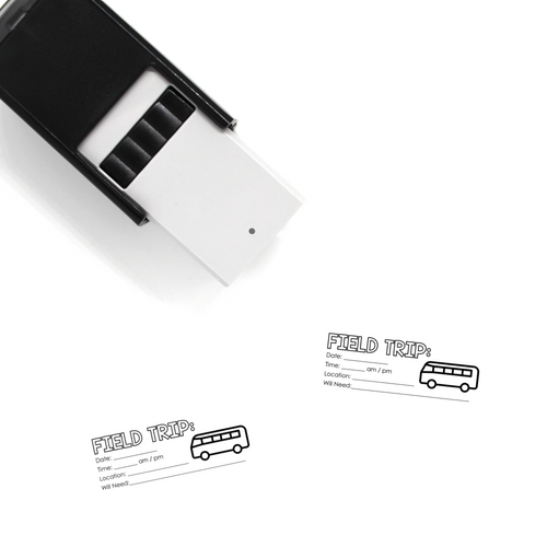 """Field Trip"" Self-Inking Rubber Stamp for Teachers"