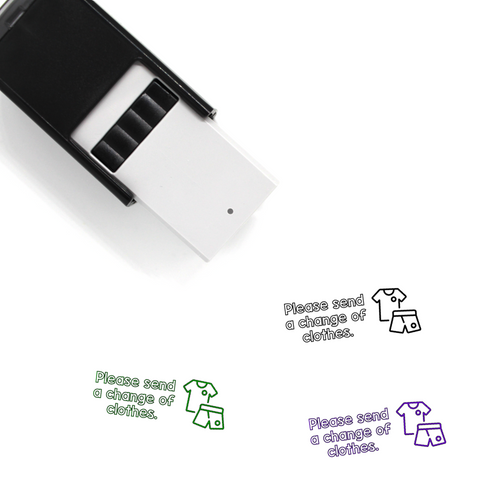 """Change of Clothes"" Self-Inking Rubber Stamp for Teachers"
