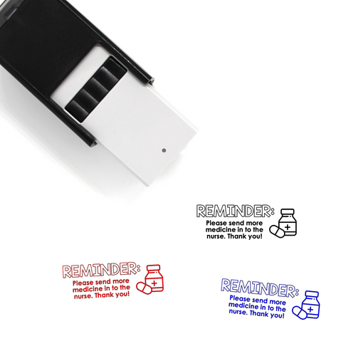 """Medicine Reminder"" Self-Inking Rubber Stamp for Teachers"