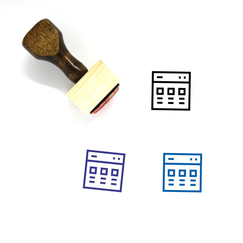 """""""Browser"""" wooden rubber stamp with 3 sample imprints of the image"""
