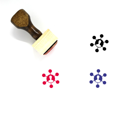 """""""Influencer Fill"""" wooden rubber stamp with 3 sample imprints of the image"""
