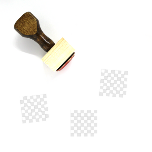 Chess Board Wooden Rubber Stamp No. 1