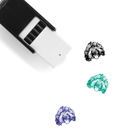 """""""Barbet"""" self-inking rubber stamp with 3 sample imprints of the image"""