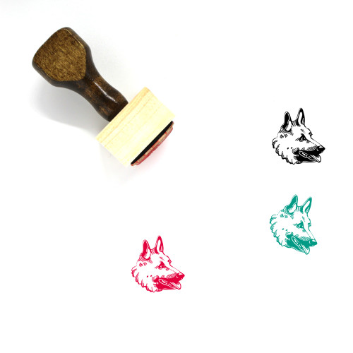 """""""Belgian Lakenois"""" wooden rubber stamp with 3 sample imprints of the image"""