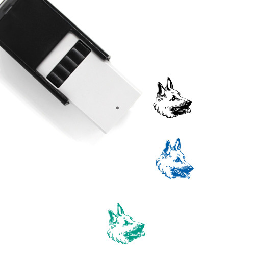 """""""Belgian Lakenois"""" self-inking rubber stamp with 3 sample imprints of the image"""