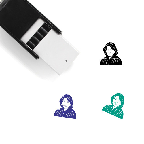 """""""Sonia Sotomayor"""" self-inking rubber stamp with 3 sample imprints of the image"""