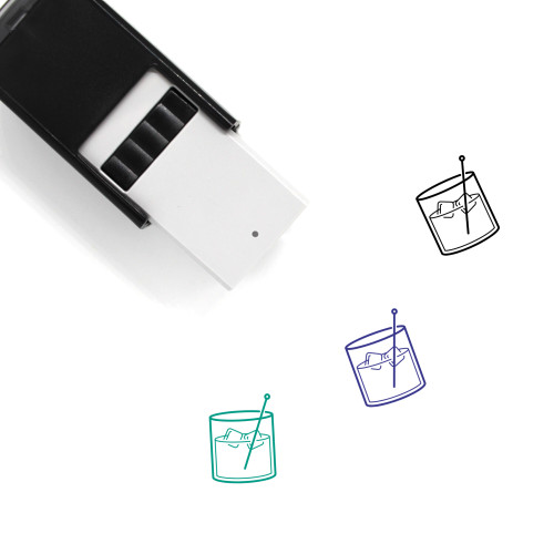 """""""Old Fashioned"""" self-inking rubber stamp with 3 sample imprints of the image"""
