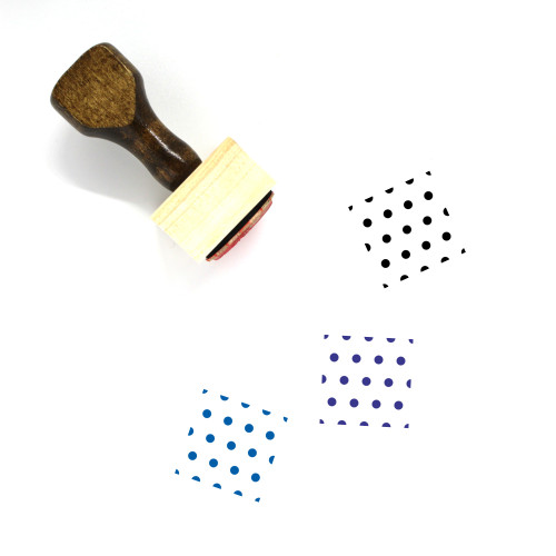 """""""Pattern"""" wooden rubber stamp with 3 sample imprints of the image"""