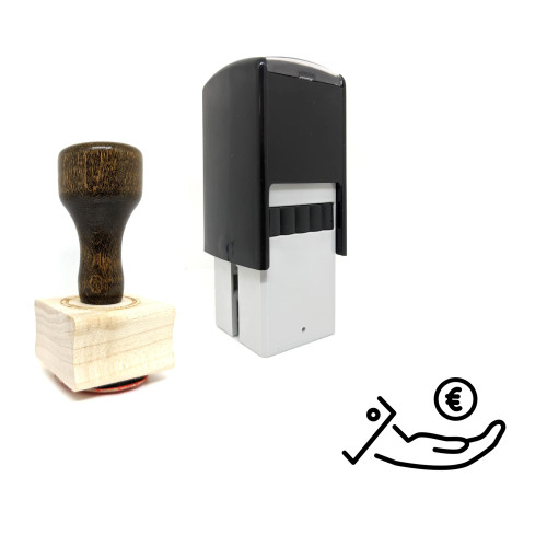 """""""Euro"""" rubber stamp with 3 sample imprints of the image"""