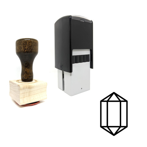 """""""Diamond Crystal"""" rubber stamp with 3 sample imprints of the image"""