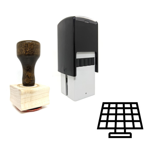 """""""Solar Battery"""" rubber stamp with 3 sample imprints of the image"""