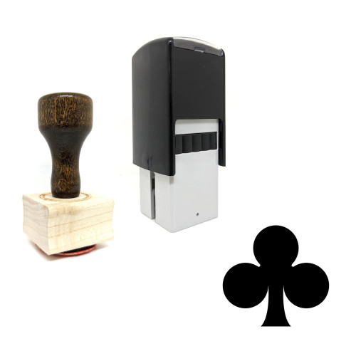 """""""Clover"""" rubber stamp with 3 sample imprints of the image"""