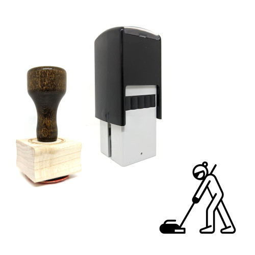 """""""Curling"""" rubber stamp with 3 sample imprints of the image"""