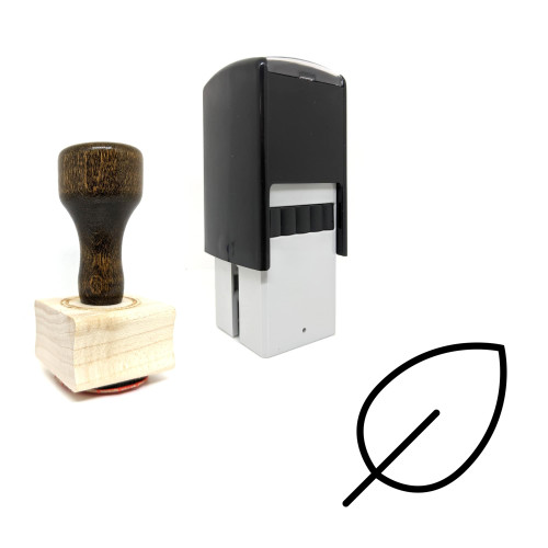 """""""Leaf"""" rubber stamp with 3 sample imprints of the image"""
