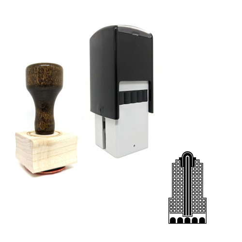 """""""Wells Fargo Center"""" rubber stamp with 3 sample imprints of the image"""
