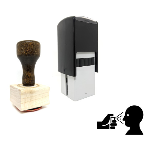 """""""Pepper Spray"""" rubber stamp with 3 sample imprints of the image"""