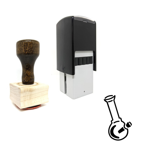 """""""Bong"""" rubber stamp with 3 sample imprints of the image"""