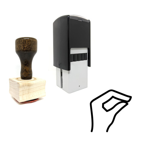 """""""Lizard Hand"""" rubber stamp with 3 sample imprints of the image"""