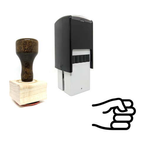 """""""Rock Hand"""" rubber stamp with 3 sample imprints of the image"""