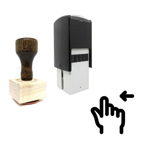 """Slide Left"" rubber stamp with 3 sample imprints of the image"