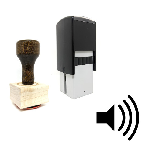 """""""Speaker"""" rubber stamp with 3 sample imprints of the image"""