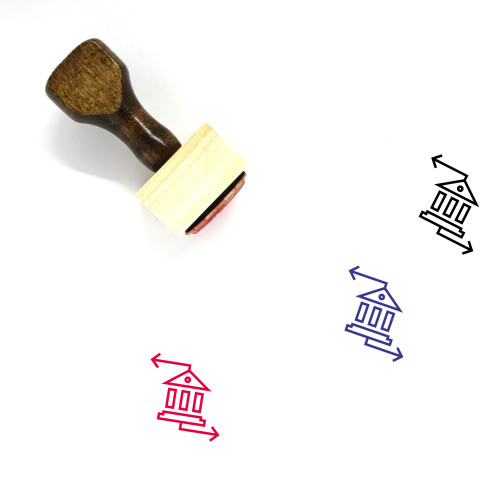 """""""Bank Transaction"""" wooden rubber stamp with 3 sample imprints of the image"""