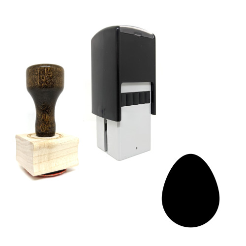 """""""Egg"""" rubber stamp with 3 sample imprints of the image"""