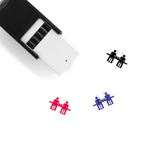 """""""Communication"""" self-inking rubber stamp with 3 sample imprints of the image"""