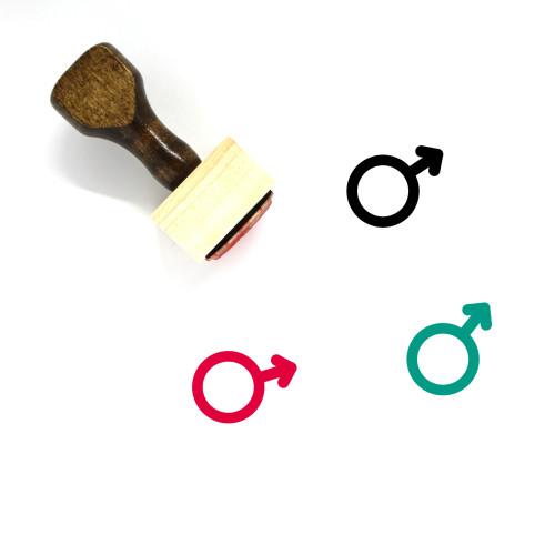 Male Wooden Rubber Stamp No. 16