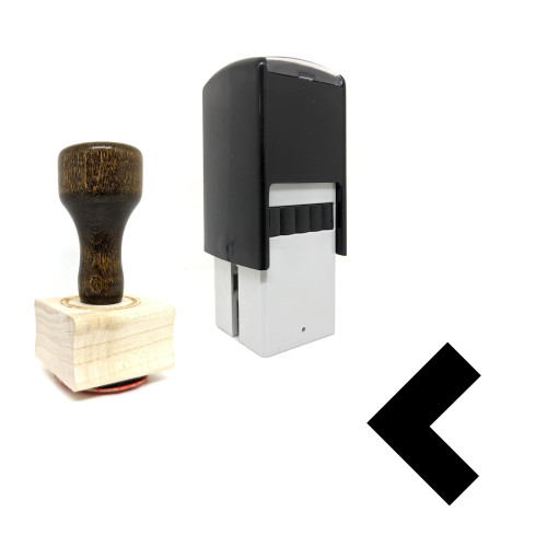 """""""Left"""" rubber stamp with 3 sample imprints of the image"""