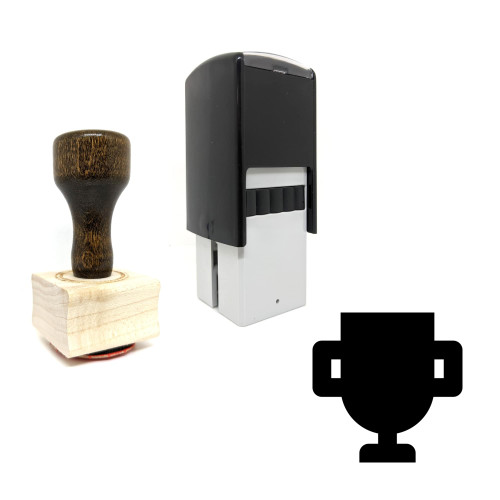 """""""Trophy"""" rubber stamp with 3 sample imprints of the image"""