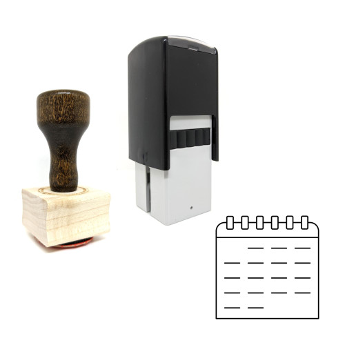 """""""Calendar"""" rubber stamp with 3 sample imprints of the image"""