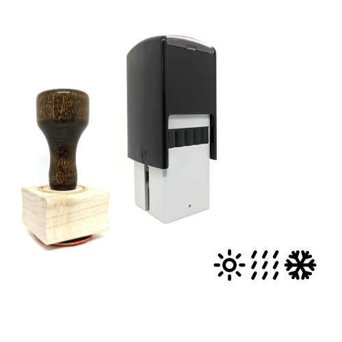 """""""Climate"""" rubber stamp with 3 sample imprints of the image"""