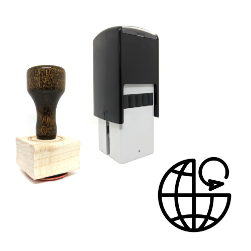 """""""Reload"""" rubber stamp with 3 sample imprints of the image"""