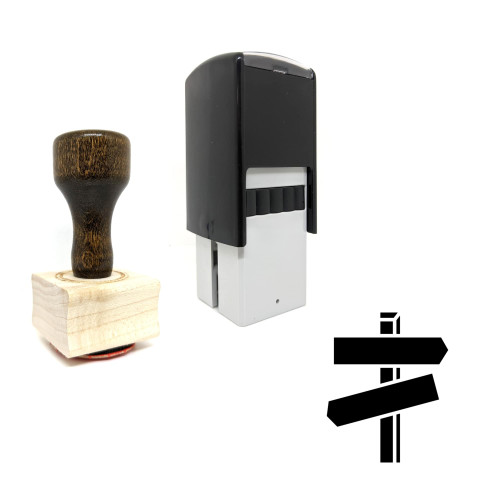 """""""Direction"""" rubber stamp with 3 sample imprints of the image"""