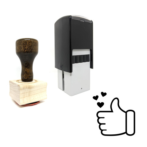 """""""Like"""" rubber stamp with 3 sample imprints of the image"""